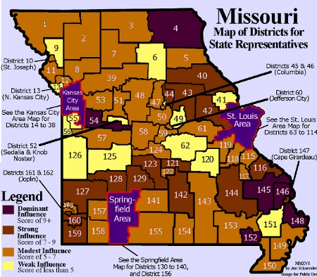Power Map of the Missouri House
